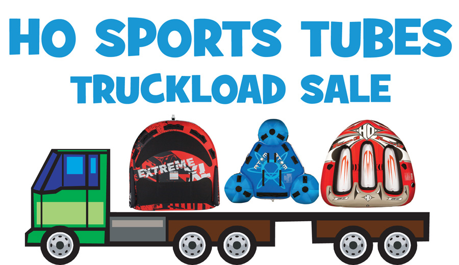 Action Water Sports' HO Sports Tube Truckload Sale